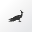 Peacock icon symbol. Premium quality isolated peafowl element in trendy style.