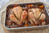 Chicken stuffed with chestnuts - 243208113