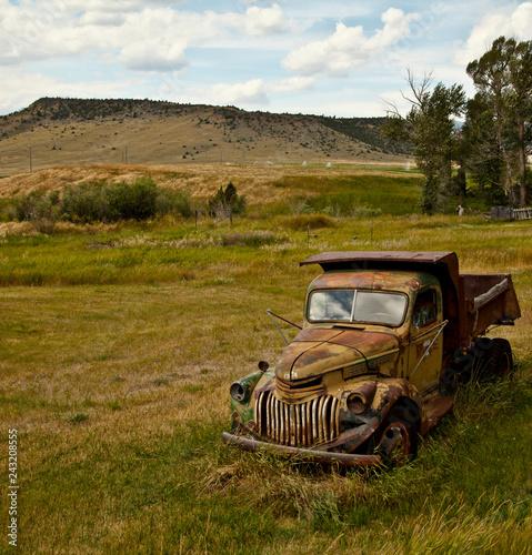 obraz PCV old truck in field