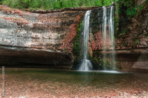 Waterfall in France. Les cascades du hérisson in Le Frasnois, France, Europe.