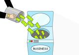 Money laundering, cartoon vector art - 243213350