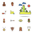 desert colored icon. Wild West icons universal set for web and mobile - 243219596