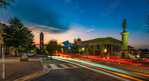 Wall mural Downtown Spartanburg, South Carolina, USA near Greenville SC