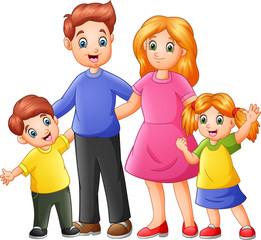 Happy family cartoon © idesign2000
