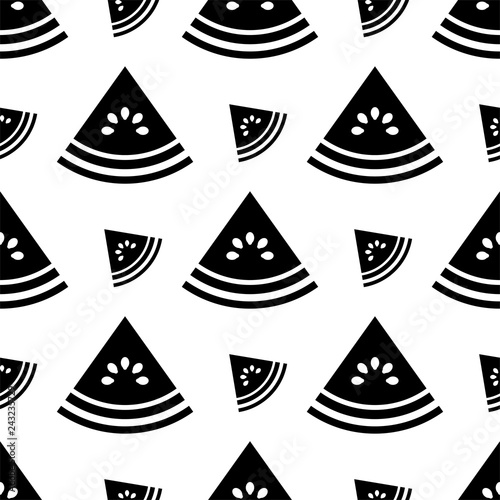 Watermelon Icon Seamless Pattern, Fruit Icon - 243235729