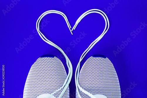laced sneaker heart - 243238130