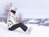 woman skier, Alps Mountains, Savoie, France - 243241131