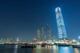 Skyline of midtown of Hong Kong city at night - 243241948