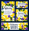 Spring Season flower greeting card, banner design