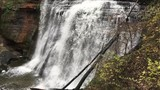Cascade of Brandywine Falls in slow motion at Cuyahoga Valley National Park just south of Cleveland, Ohio. - 243243147