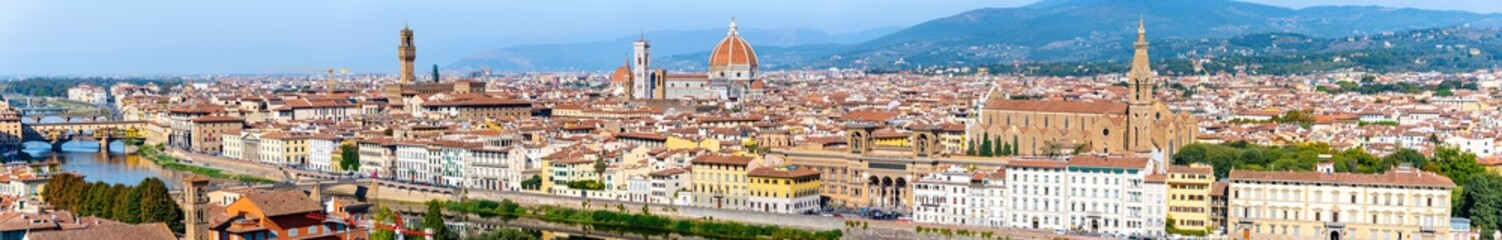 High Def Panorama of Florence Italy during mid day © Mark