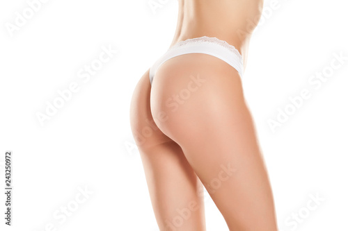 Young Woman With A Pretty Ass In White Panties