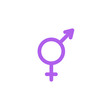 Gender flat icon, vector sign, colorful pictogram isolated on white. Male and female Symbol, logo illustration. Flat style design