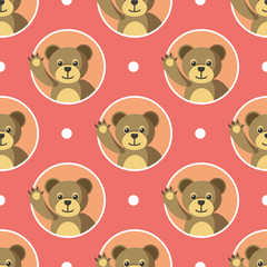 Little Bears Seamless Pattern
