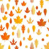 Autumn composition. Seamless autumn maple leaves pattern. EPS 10 - 243254996