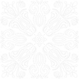 Oriental vector pattern with arabesques and floral light gray elements. Traditional classic ornament. Vintage pattern with arabesques - 243262330
