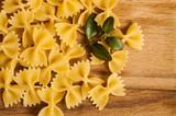 Italian cuisine concept - Wholemeal farfalle pasta