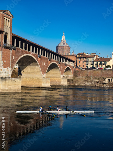 The famous covered bridge of Pavia