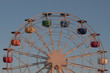 Quadro Ferris wheel on Tibidabo hill Barcelona at sunset