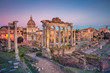 Quadro Roman Forum, Rome. Cityscape image of famous ancient Roman Forum in Rome, Italy during sunset.