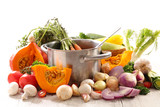 vegetable and cooking pan - 243274575