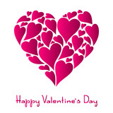 Happy Valentine Day greeting card. - 243275319