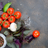 tomatoes, basil and peper spice - 243276109