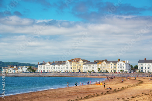 Exmouth beach in summer, Devon, UK