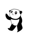 beautiful and cute panda illustrations