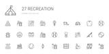 recreation icons set - 243301376