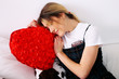 San Valentino coppia di  giovani innamorati