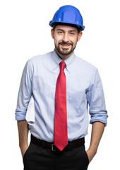 Portrait of an handsome engineer © Minerva Studio
