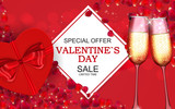 Valentines Day Sale, Discont Card. Vector Illustration. EPS10 - 243321540