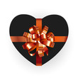 Heart shaped gift box with bow. Vector illustration - 243322310