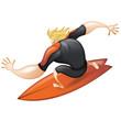 Pro cartoon surfer