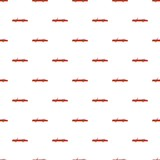 Rap american car pattern seamless vector repeat for any web design