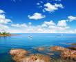 Quadro Sea water and ship yachts on the horizon.