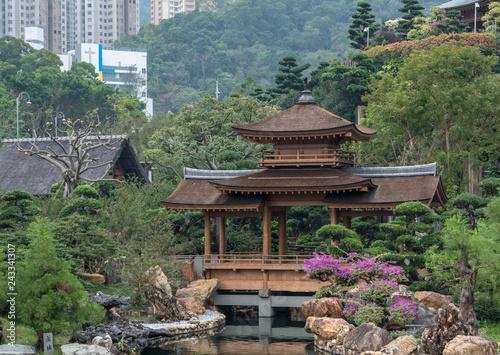obraz lub plakat Temple in the Nan Lian Garden by Chi Lin Nunnery in Hong Kong