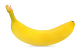 Fresh bananas isolated on white background with clipping path - 243349177
