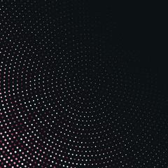 Vector abstract pink halftone pattern on black background. Rose luxury dotted design template © Oksana Kumer