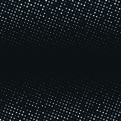 Vector abstract silver halftone pattern on black background. White luxury dotted design template © Oksana Kumer