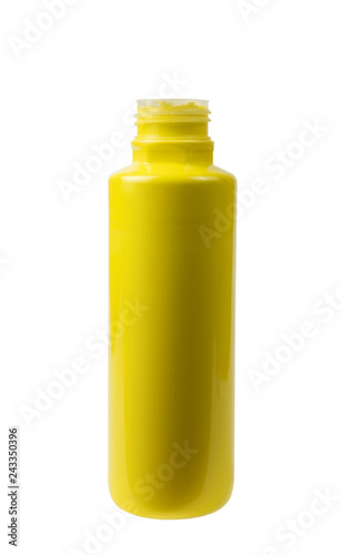 Foto Murales Yellow acrylic paint