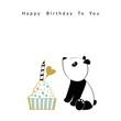 Birthday illustration with panda
