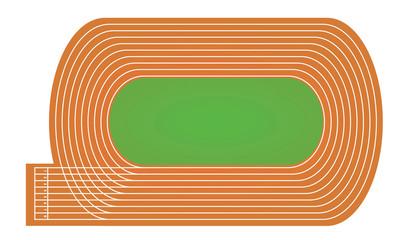 Running tracks. vector illustration © marijaobradovic