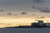 Panoramic view of one end of the Copacabana Beach, with an old famous fort, in Rio de Janeiro, Brazil. - 243362391