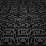 Modern dark octogonal pattern. Geometric abstract texture. Graphic geometric background with perspective pattern - 243375179