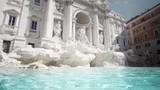 Fountain di Trevi in Rome, Italy - 243376552