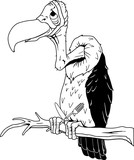 Vulture Vector Cartoon Illustration