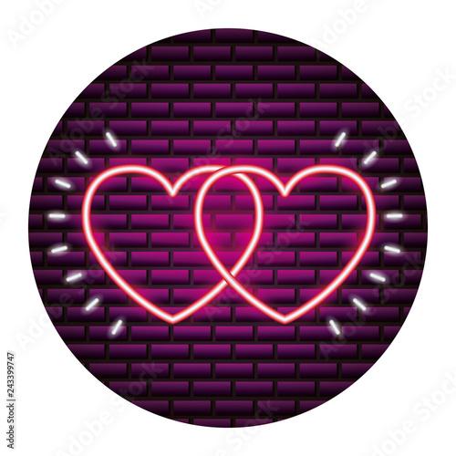 valentine day neon - 243399747
