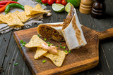 Mexican burrito with meat - 243400393